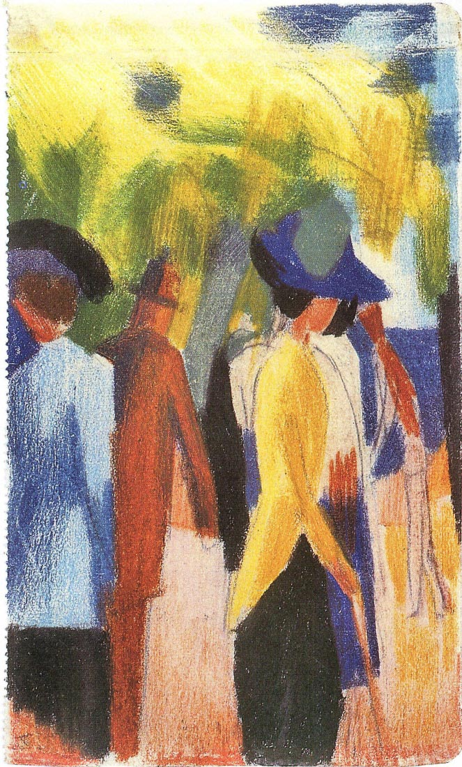 Walking under trees [2] - August Macke